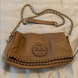 Tory Burch camel leather crossbody